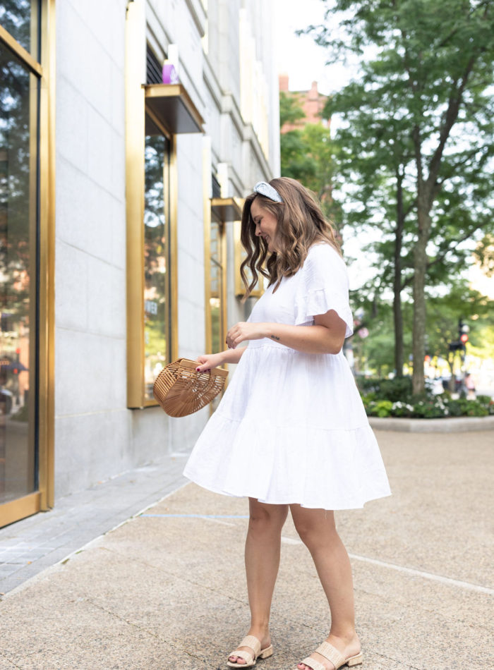 white amazon dress